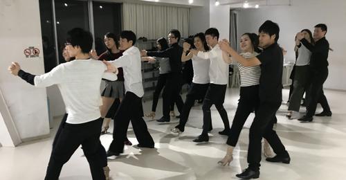 ダンスサークルJ 初心者クラス様子